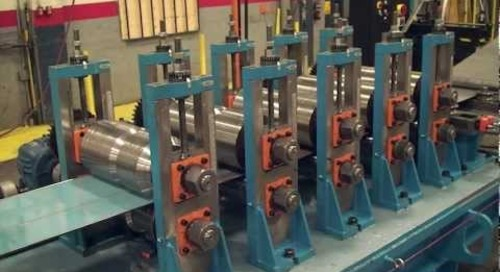 Samco Machinery Step Beam Rollforming Line with Continuous In-line High Frequency Welder