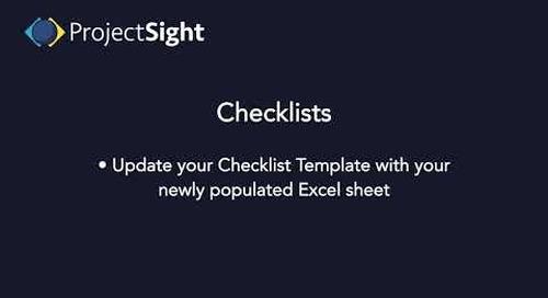 ProjectSight Training - Checklists