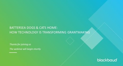 Battersea Dogs & Cats Home: How digital is transforming Grantmaking