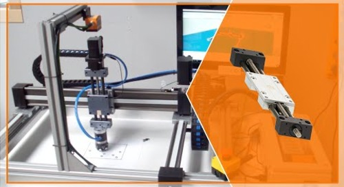 drylin® linear robot gantry system for pick and place: o-ring application