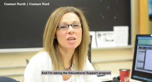 Online learning - Mandy Forbes of Wawa, Educational Support student
