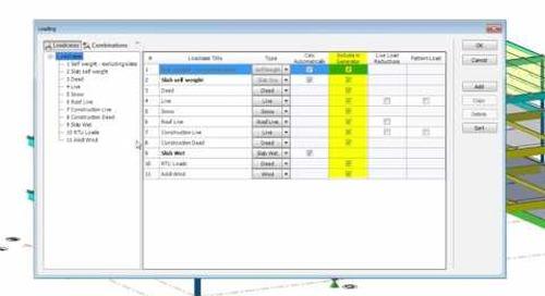 Generating Load Combinations in Tekla Structural Designer