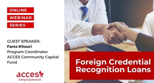 Helping Newcomers Relaunch Careers with Foreign Credential Recognition Loans