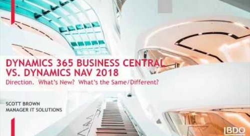 Webinar: Dynamics 365 vs. Dynamics NAV | BDO Canada