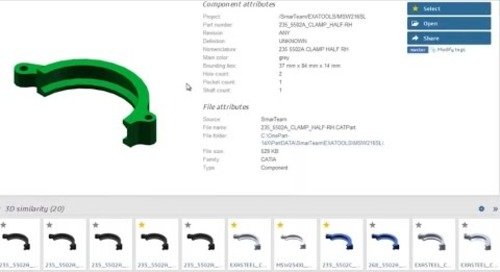 Reuse Existing Parts with the help of EXALEAD OnePart