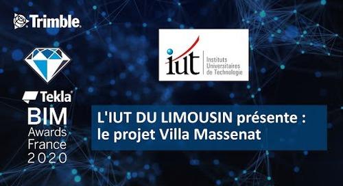 L'IUT DU LIMOUSIN présente le projet Villa Massenat
