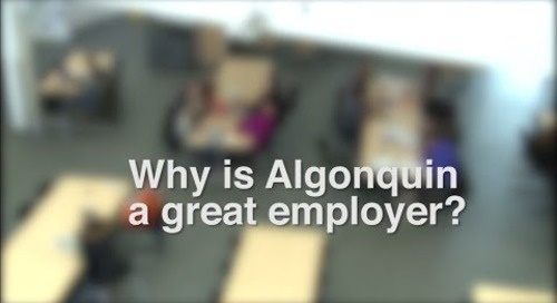 Why is Algonquin College a Great Employer?