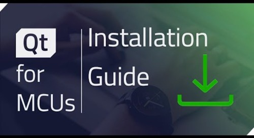 Qt for MCUs - Installation Guide