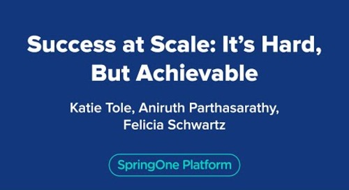Success at Scale: It's Hard, But Achievable