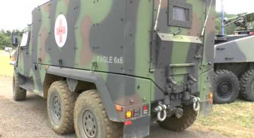 DVD 2016:  Chris talks about the General Dynamics Mowag Eagle 6x6 MRP vehicle