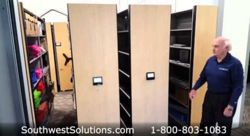 High Capacity Storage Shelving Manual Hand Crank Powered Push Button