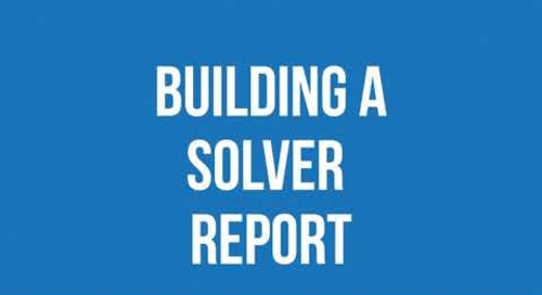 How-To Build Meaningful CPM Reports using Solver | Western Computer