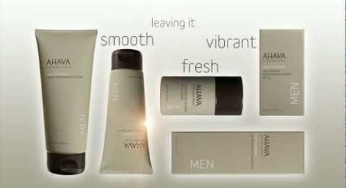 Introducing... NEW Ahava Men's Skincare Line - Time to Energize