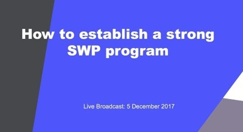 Broadcast: How to establish a strong SWP programme