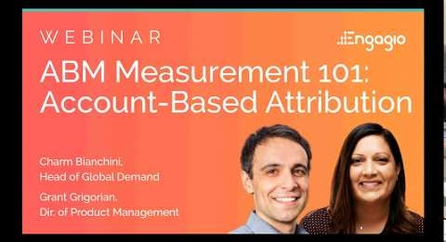 [Webinar] ABM Measurement 101:  Account-Based Attribution | Replay