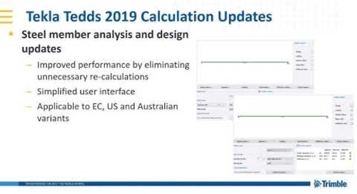 Steel member update in Tekla Tedds 2019