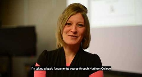 Online learning - Rachael Velkovski, Northern College student in South Porcupine, ON