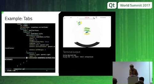 QtWS17 - Qt Wayland Compositor: Creating multi-process user interface, Johan Helsing, The Qt Company
