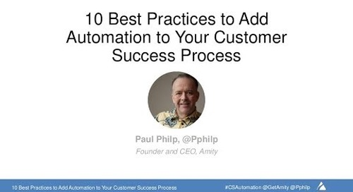Adding Automation to your Customer Success Process