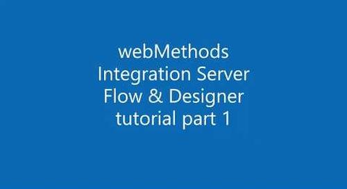 webMethods Integration Server with Flow tutorial 1