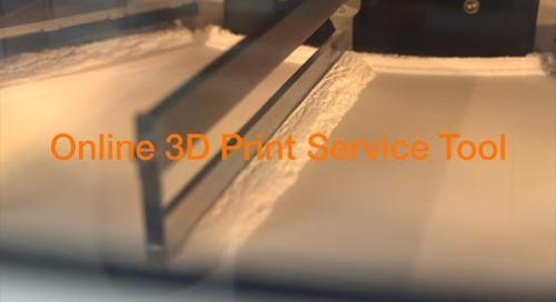 3D Print Service Online Tool - Walk Through