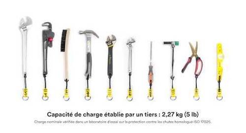 Accroître la durée de vie des outils avec le Cordon avec fixation à anneau en D DBI-SALA® 3M