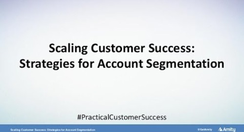 Scaling Customer Success: Strategies for Account Segmentation