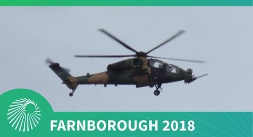 Farnborough 2018: A129 CBT Mangusta Attack Helicopter