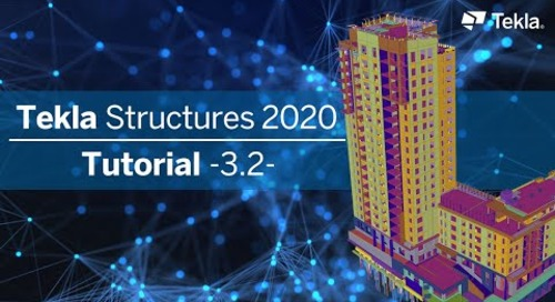 Tutorial Tekla Structures 2020 | 3.2 Treppe und Geländer detaillieren