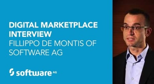 Digital Marketplace Interview Fillippo De Montis of Software AG