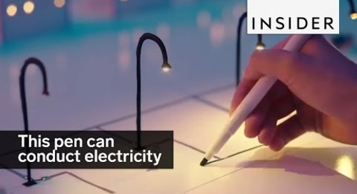 This pen makes drawings that conduct electricity