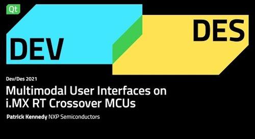Multimodal User Interfaces on iMX RT Crossover MCUs, NXP - DEVDES 2021