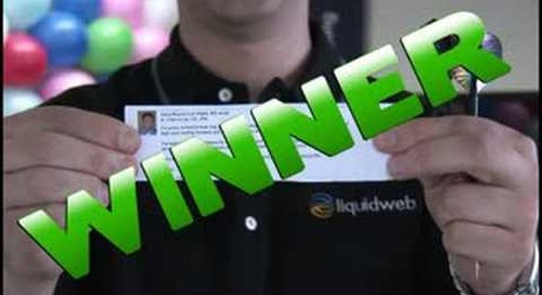 Drawing Winners for the Liquid Web Wall Contest