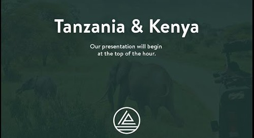 Webinar: East Africa Safari Preview