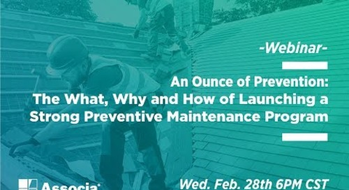 WEBINAR RECORDING: Launch a Strong Preventive Maintenance Plan