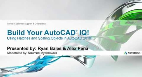 Webinar: Using Hatches and Scaling Objects in AutoCAD 2018 | AutoCAD