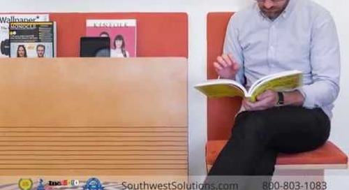 Wall Mounted Fold-Down Seating for Offices, Waiting Rooms, Hallways