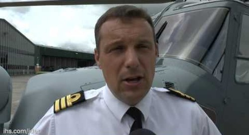 Commander Philip Richardson RN, Commanding Officer, 815 Naval Air Squadron talks to IHS Jane's about