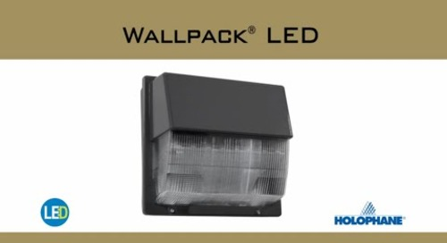Wallpack LED Luminaire Security/Perimeter Lighting