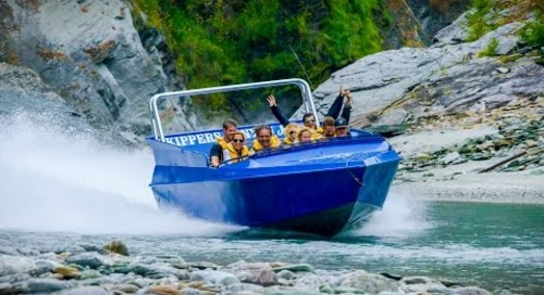 Jet Engine Strapped to Boat - Jetboating in New Zealand! Play On! in 4K! | DEVINSUPERTRAMP