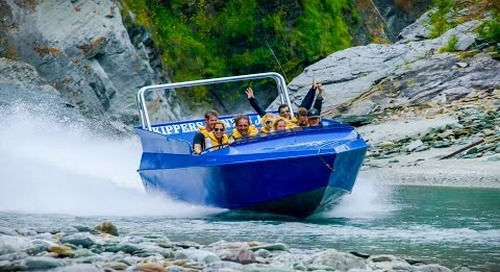Jet Engine Strapped to Boat - Jetboating in New Zealand! Play On! in 4K!   DEVINSUPERTRAMP