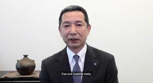Spanish - YKK achieves sale of 10 billion zippers - Message from Mr. Otani and Mr. Matsushima