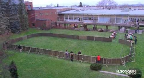 Ice Court Timelapse - Algonquin College