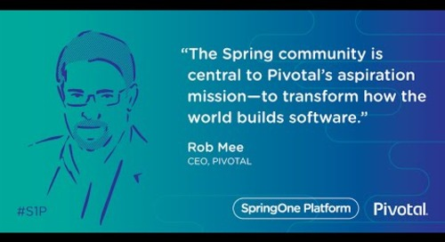 Rob Mee at SpringOne Platform