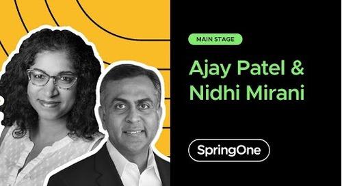 Ajay Patel with Nidhi Mirani at SpringOne 2020