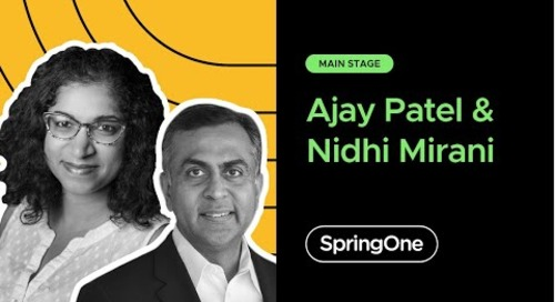 Ajay Patel with Nidhi Mirani at SpringOne 2020