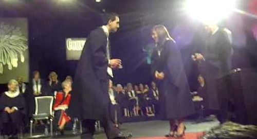Wedding proposal at Algonquin College Convocation 2011