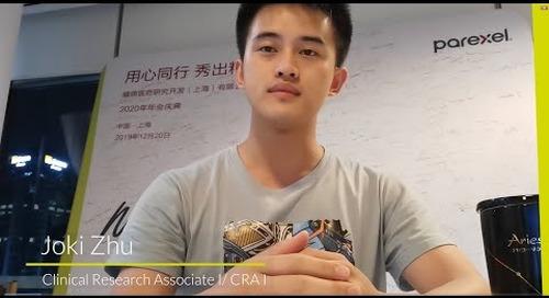 Meet Joki Zhu - Clinical Research Associate I/CRA I