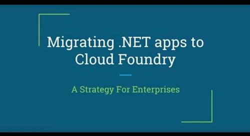 Migrating .NET Apps to CF, A Strategy for Enterprises — Nicholas Grabowski, Schwab