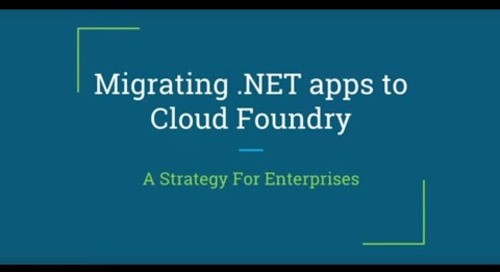 Migrating .NET Apps to CF, A Strategy for Enterprises — Nicholas Grabowski, Schwab